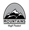 monochrome pattern of mountain tops from lines vector image