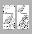 set of natural invitation cards design vector image