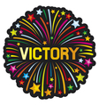 victory firework vector image vector image