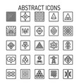 abstract line icons vector image