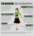 fashion infographic with young female teacher vector image vector image