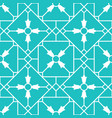blue arabic ornamental ceramic tile vector image