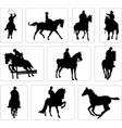 horse riders silhouettes vector image