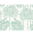 Hand drawn pattern with chrysanthemum vector image
