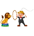 Cartoon Lion Tamer with lion vector image vector image