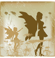 fairy background vector image vector image