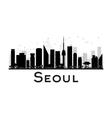 Seoul silhouette vector image