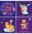 Birthday cards templates design vector image