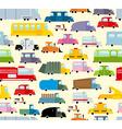 Cartoon car pattern City traffic jam Diverse vector image
