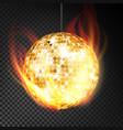 gold disco ball realistic yellow dance vector image