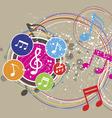 Music festival background vector image