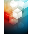 Red and blue technology art design vector image