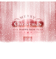 Silver red Merry Christmas typography vector image