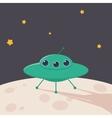 UFO rocket icons vector image