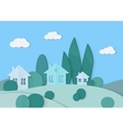 Village cardboard paper landscape House vector image