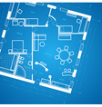 Blueprint background vector image vector image