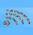 crowd wifi sign isometric concept vector image