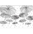flying umbrellas vector image