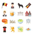 national flag clothing and other belgium vector image