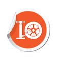 wheel pump icon orange sticker vector image vector image