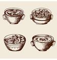 Vintage hand drawn soup vector image vector image