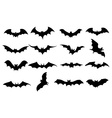 Bats icons set vector image