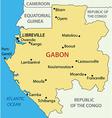 Gabon - Gabonese Republic - map vector image