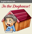 A boy in the doghouse vector image