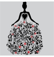 silhouette of elegant dress vector image vector image