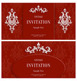 Red Floral 3d Background Template for vector image