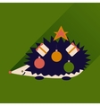 flat icon with long shadow hedgehog gifts vector image