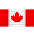 The mosaic flag of Canada vector image
