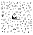 doodle icons arrows for the site hand-drawn vector image