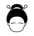 geisha japan related icon image vector image
