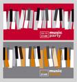 hands and piano keys vector image