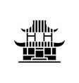 pagoda icon black sign on vector image