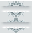 Paper banners with graphic sketch ornaments vector image