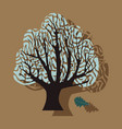 paper sticker on theme of andorra oak vector image