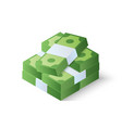 pile of cash stack of dollars isometric vector image