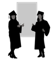 silhouettes graduates vector image vector image