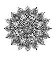 Mandala Decorative floral ornament vector image vector image
