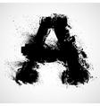 Grunge letter - alphabet symbol design vector image