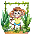 A young and playful monkey vector image vector image