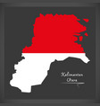 Kalimantan utara indonesia map with indonesian vector image