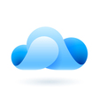 Abstract blue cloud vector image vector image