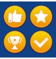 golden gamification badges vector image