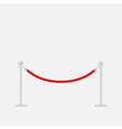 Red rope barrier stanchions turnstile Isolated vector image
