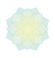 Color lineart geometric ornamental templates vector image