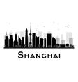Shanghai silhouette vector image