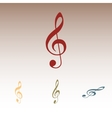 violin clef isolated vector image